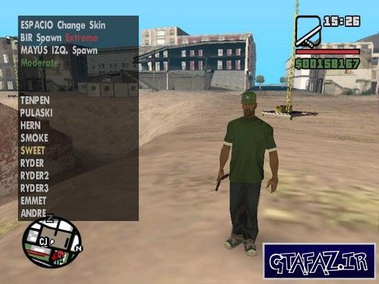 آموزش تغیر اسکین توسط مود Skin Selector برای (GTA 5 (San Andreas
